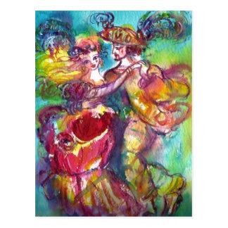 CARNIVAL DANCE Venetian Masquerade Ball Postcard