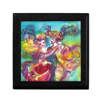 CARNIVAL DANCE Venetian Masquerade Ball Small Square Gift Box