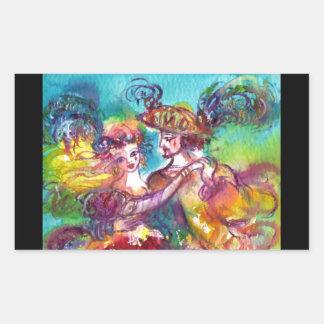 CARNIVAL DANCE Venetian Masquerade Ball Rectangular Sticker