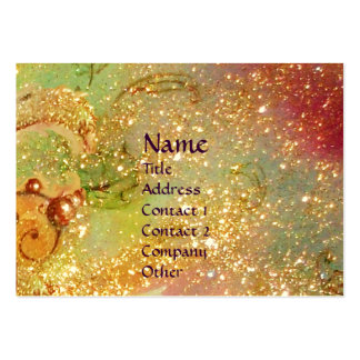 CARNIVAL DANCE / Venetian Masquerade Gold Yellow Business Cards