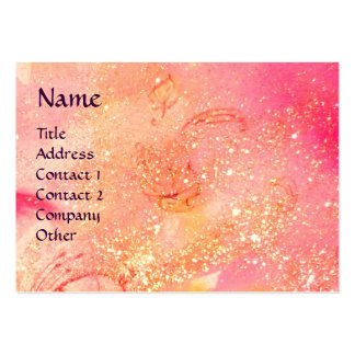 CARNIVAL DANCE / Venetian Masquerade Pink Sparkles Pack Of Chubby Business Cards