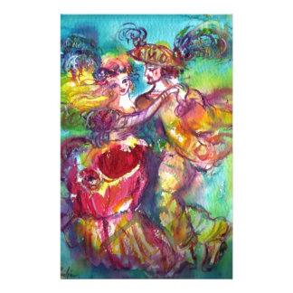 CARNIVAL DANCE ,Venetian Masquerade Stationery Paper