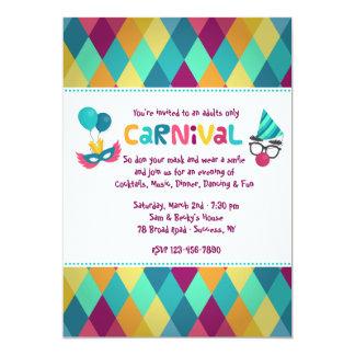 Carnival Diamonds Invitation
