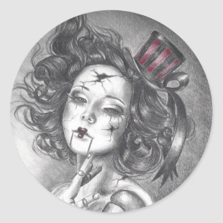 Carnival Doll Sticker Gothic Art Sticker