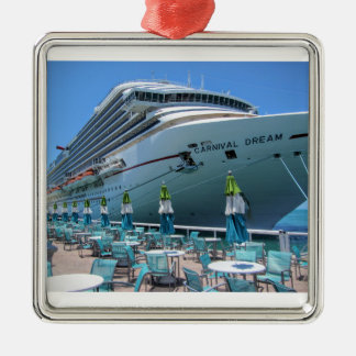 Carnival Dream in Key West Silver-Colored Square Decoration