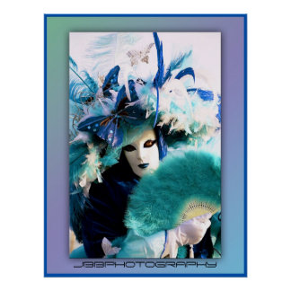 carnival feathers poster
