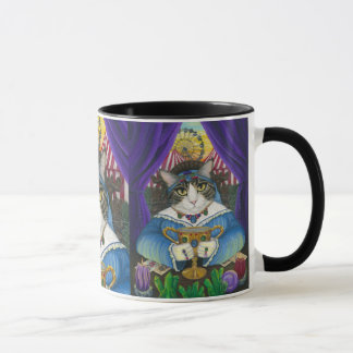 Carnival Fortune Teller Cat Tarot Card Art Mug