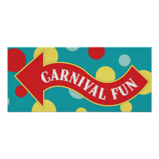 Carnival Fun Arrow Sign Carnival Circus Birthday L