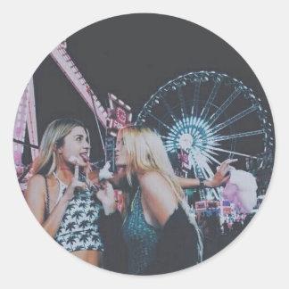 Carnival fun round sticker