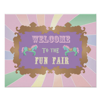 Carnival - Funfair -Pastel - Birthday - Sign Poster