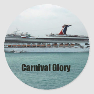 Carnival Glory Round Stickers