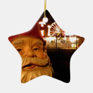 Carnival Gnome Ceramic Star Decoration