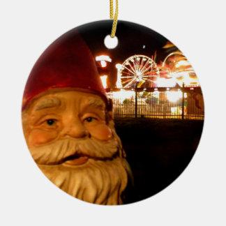 Carnival Gnome Round Ceramic Decoration