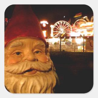 Carnival Gnome Square Sticker
