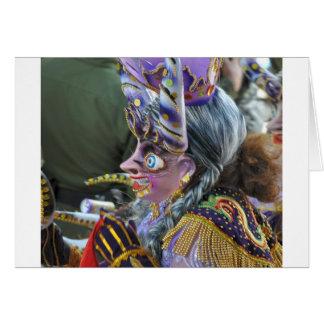 Carnival in Oruro, Bolivia Greeting Card