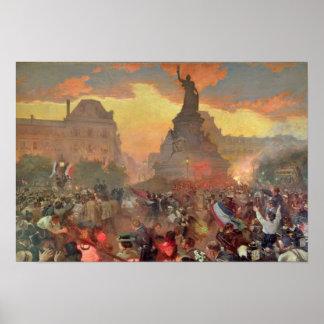 Carnival in Paris in Honour of the Russian Poster