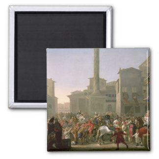 Carnival in Rome, c.1650-51 Magnet