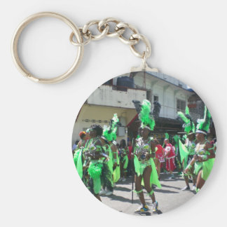 Carnival in San Fernando Trinidad Basic Round Button Key Ring