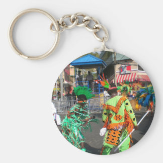 Carnival in Trinidad 2010 Basic Round Button Key Ring
