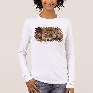 Carnival: 'Le Roi Boit', 1690 (oil on copper) Long Sleeve T-Shirt