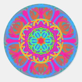 Carnival Mandala Classic Round Sticker