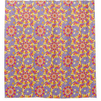 Carnival Mandala Pattern Shower Curtain