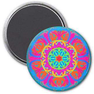 Carnival Mandala Style Pink Magnet