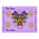 Carnival Mardi Gras  Event  Please View Notes 17cm X 22cm Invitation Card