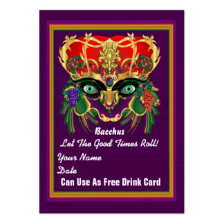 Carnival Mardi Gras Throw Card Please View Notes Large Business Cards (Pack Of 100)