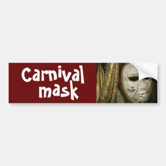 carnival mask car bumper sticker