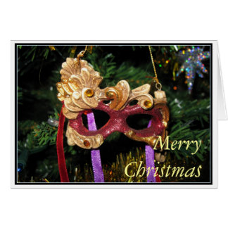 Carnival Mask  Christmas Card