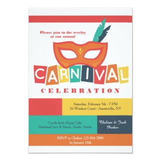 Carnival Mask Invitation