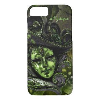 Carnival Mask - Peridot Damask iPhone 7 Case