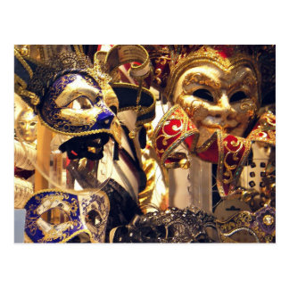 Carnival Mask Window Postcard
