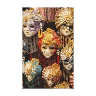 Carnival Masks in Venice Canvas Print