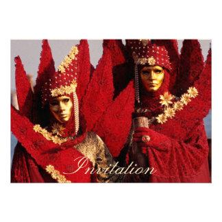 Carnival Masks Custom Invitations
