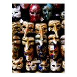 Carnival Masks Postcards