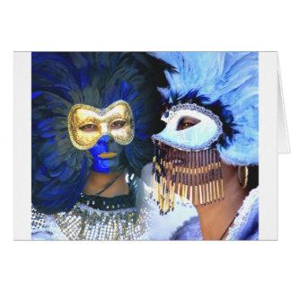 Carnival Masks, Venice Card