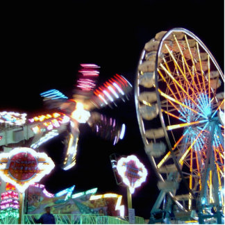 Carnival night fair ride photograph party picture! photo sculpture badge