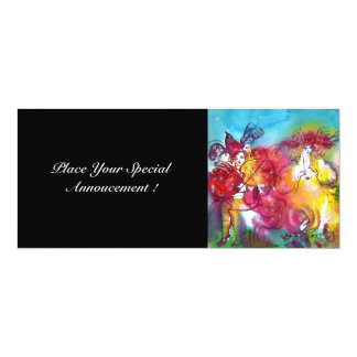 CARNIVAL NIGHT, Mardi Gras Masqureade ,Dance,Music 10 Cm X 24 Cm Invitation Card
