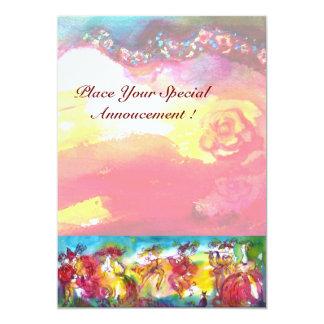 CARNIVAL NIGHT, Mardi Gras Masqureade ,Dance,Music 13 Cm X 18 Cm Invitation Card