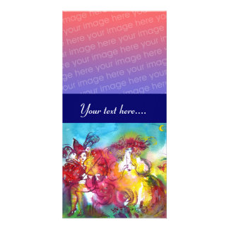CARNIVAL NIGHT  pink red blue yellow purple Picture Card