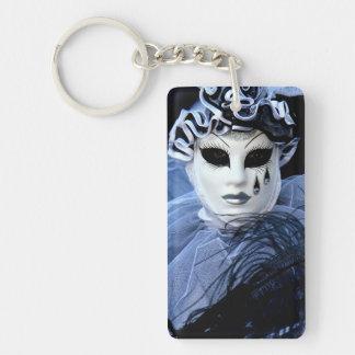 Carnival of Venice Single-Sided Rectangular Acrylic Key Ring