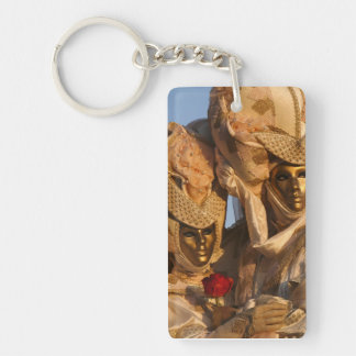Carnival of Venice Double-Sided Rectangular Acrylic Key Ring