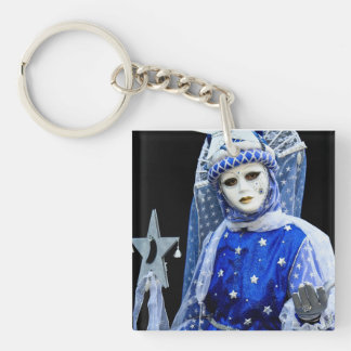 Carnival of Venice Single-Sided Square Acrylic Key Ring