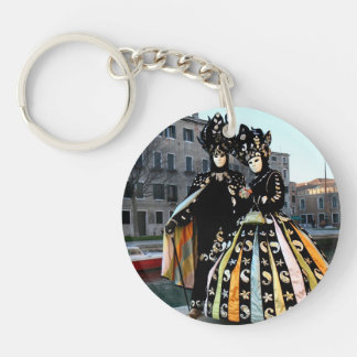 Carnival of Venice Single-Sided Round Acrylic Key Ring