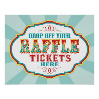 Carnival or Circus Raffle Ticket Booth Sign