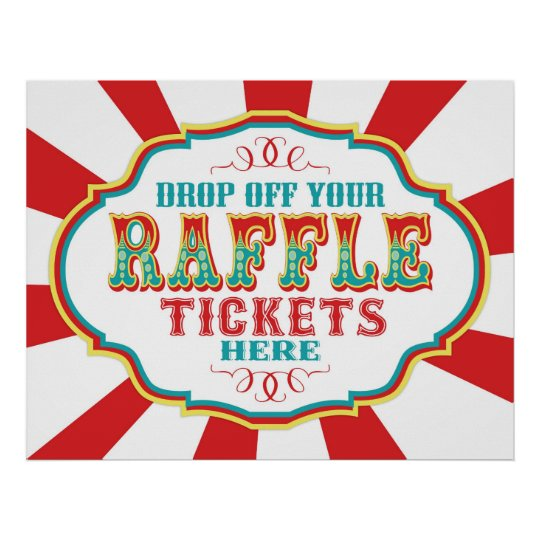 Carnival or Circus Raffle Ticket Sign