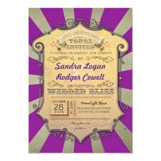 carnival purple wedding invitations
