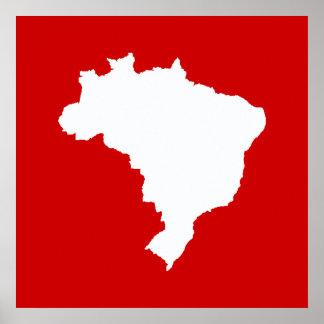 Carnival Red Festive Brazil at Emporiomoffa Poster